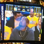 Warriors fans went from cheering George Lopez to booing Kanye West http://t.co/vTiLJ7PZJc