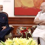 The Governor of Manipur, Dr. Syed Ahmed calling on the PM Shri @narendramodi in New Delhi. . http://t.co/0ZM86XCI5J