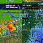 Watching severe storms in the TX panhandle...they could make a run for SW OK. 10:28pm @kfor #okwx http://t.co/SGc3rhaYN3