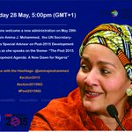 Join us as @AminaJMohammed,speaks on #Post2015 agenda &development prioritiesfor the new govt in #Nigeria #Action2015 http://t.co/69q1QuxBR5
