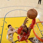 Final:  GSW: 104 HOU: 90  Howard: 18p/16r Harden: 14p/6r/5a Brewer: 16p/3r Ariza: 15p/6r/4a http://t.co/pH1fgDwTy5