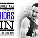 Series over! The Golden State Warriors are headed to their first NBA Finals in 40 years. http://t.co/sdRxmdll7M