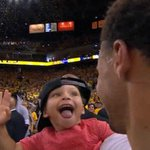 Riley Curry and Stephen Curry! http://t.co/a5Rr8X2ZJB