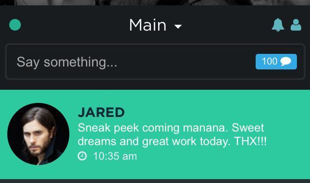 RT @MOPEKPEBETOK: @JaredLeto on @VyRT  congrats ???????????????????? http://t.co/qI8OOJVNXm