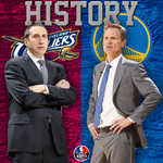 Steve Kerr & David Blatt will face off against each other. Only other time 2 rookie coaches met in Finals was 1946. http://t.co/DDUfrxloS7