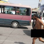This nude man hit Kabul roads today to allegedly protest against unemployment and lack of justice: @WaisBarakzai http://t.co/8ocn7fw7Ee
