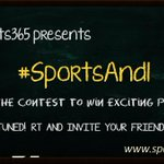 Win an exciting surprise by participating in #SportsAndI contest. RT & INVITE ppl. Stay tuned! #contest #ContestAlert http://t.co/C5QwG55cuh