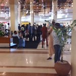 Its Invasion of The Suits here at the #Abuja Hilton in #Nigeria one day before the #Buhari #Inauguration http://t.co/YDznfJnGbl