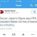 عاجل: اليابان تقول ان بلاتر ليس برئ !! أصوات آسيا بدأت تتجه نحو #الامير_علي_للفيفا #AliForFIFA http://t.co/PXt0YOm6Uk