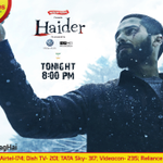 RT @AndPicturesIN: Catch the National Award Winning film #Haider as it premieres tonight on @AndPicturesIN at 8 PM #HaiderAlagHai