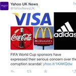 عاجل: الشركات الراعية الكبرى لأنشطة الفيفا تبدي قلقها نحو التهم بالرشاوي والتلاعب وغسيل الاموال #AliForFIFA #FIFA http://t.co/yWpx8nZ1cn
