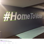 Twitter has painted #HomeToVote on the wall of its San Francisco HQ: http://t.co/QFiOqMWOHx http://t.co/XSZqbXXcCh