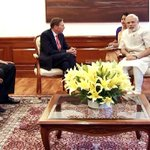 The Head of KKR Global Institute, Gen. (Retd.) David Petraeus calls on PM Shri @narendramodi in New Delhi. http://t.co/9JoQ2U28pC