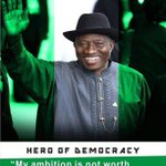 """""""My political ambition is not worth the blood of any Nigerian."""" -GEJ http://t.co/WikNdBAb2I"""