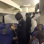 Pictures of President elect Muhammadu Buhari as he arrives Abuja early this morning from London @NTANewsNow http://t.co/NrUj0i5TB1