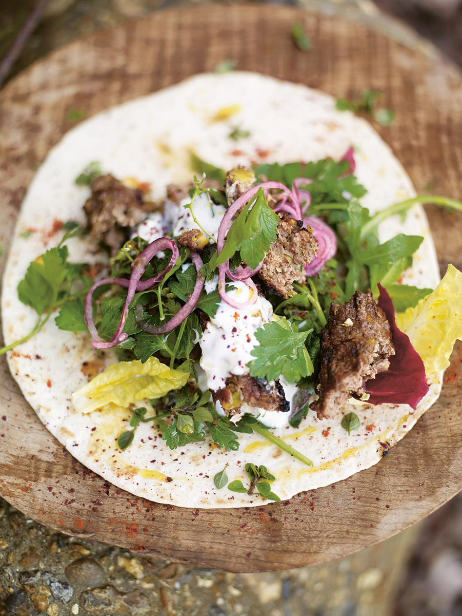 #Recipeoftheday Grilled lamb kofta kebabs with pistachios, spicy salad & soft flatbreads http://t.co/SdZ6icoK91 http://t.co/6srbWkhb2a