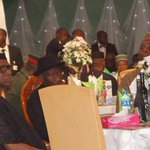 Grand House Reception for GEJ yesterday,My Governor @OlusegunMimiko was present and sat wit GEJ #ThankYouGEJ http://t.co/loDn5qHU2l