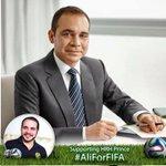 #AliForFIFA معا لدعم الامير @AliBinAlHussein لرئاسة الفيفا. #FIFAcorruption http://t.co/i6gIJyKSQw