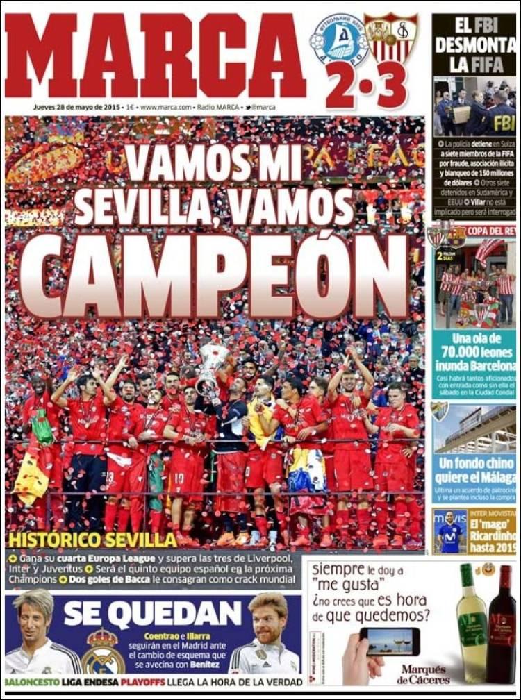 La cuarta europa league de sevilla y ter stegen, en las portadas de ...
