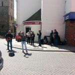 Literally a full band playing in #Colchester today. Its party time. They are good. Hello Dolly current tune. :-) http://t.co/tGKrb7zoeX