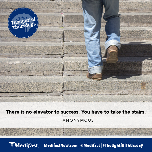 """There is no elevator to success. You have to take the stairs."" -Anonymous #ThoughtfulThursday http://t.co/ENhIVDcyk7"