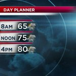 Keep the umbrella handy today. Storm chances in the AM & PM. #KQ2 #weather http://t.co/WazuH4Lph4