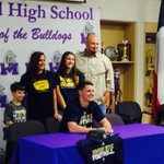 Midland High senior WR Eric Haverstock signs with Howard Payne College in Brownwood. http://t.co/QIHMvTWlJD