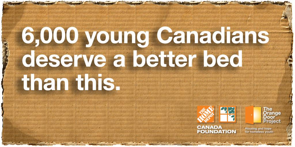 Let's help end youth homelessness. Support the #OrangeDoorProject by donating at your local Home Depot store today. http://t.co/rOgUbofneL