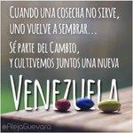 Sé parte del cambio y cultivemos juntos una nueva #VENEZUELA ... Vía @alejaguevara http://t.co/A4DD1D1KcJ