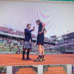 RT @ReemAbulleil: Santoro in a kilt.. Murray: You look good man... I dont really know what to say! #RG2015