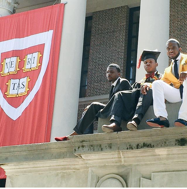 When ya people graduate from Harvard you gotta take a pic like this proud of you dudes ✊