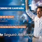 Te espero este sábado 30 de mayo en la Plaza Grande a las 7:00 pm para nuestro gran cierre de campaña. http://t.co/8CFnWthk8p