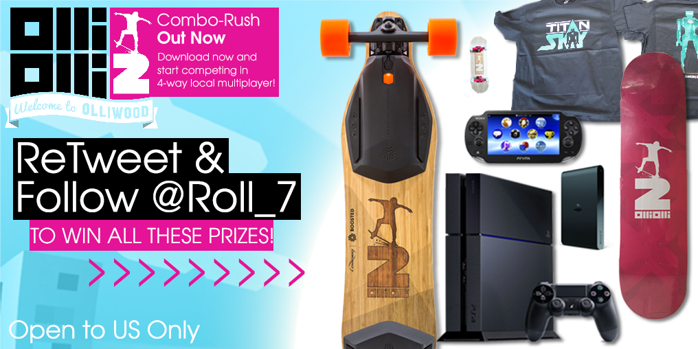 RADICAL GIVEAWAY! Win OlliOlli2 @BoostedBoards @PlayStation prizes! RT, Follow us to win! T&C: http://t.co/c9rfmlHZsR http://t.co/hlvdYE9TRX