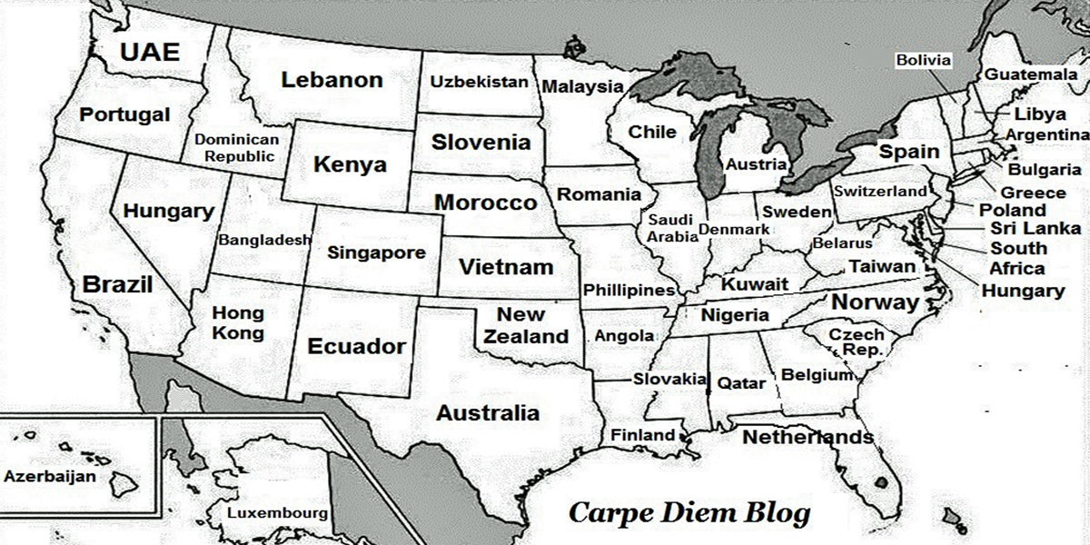 This Brilliant Map Renames Each Us State With A Country Generating The Same Gdp Http