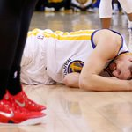 """""""After the game, I had to drive Klay home & he threw up a couple of times."""" -Mychal Thompson (Klay Thompsons father) http://t.co/0acS0nMjvl"""