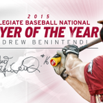 BREAKING | #BennyBaseball named first National Player of the Year in program history! Story > http://t.co/JT37gdNaZv http://t.co/nrOrknjy2O