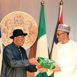 Buhari formally receives handover notes from Jonathan #ChangeIsHere #GoodbyeGEJ http://t.co/g2yQvBSOq3 http://t.co/DWVwCvPyO8