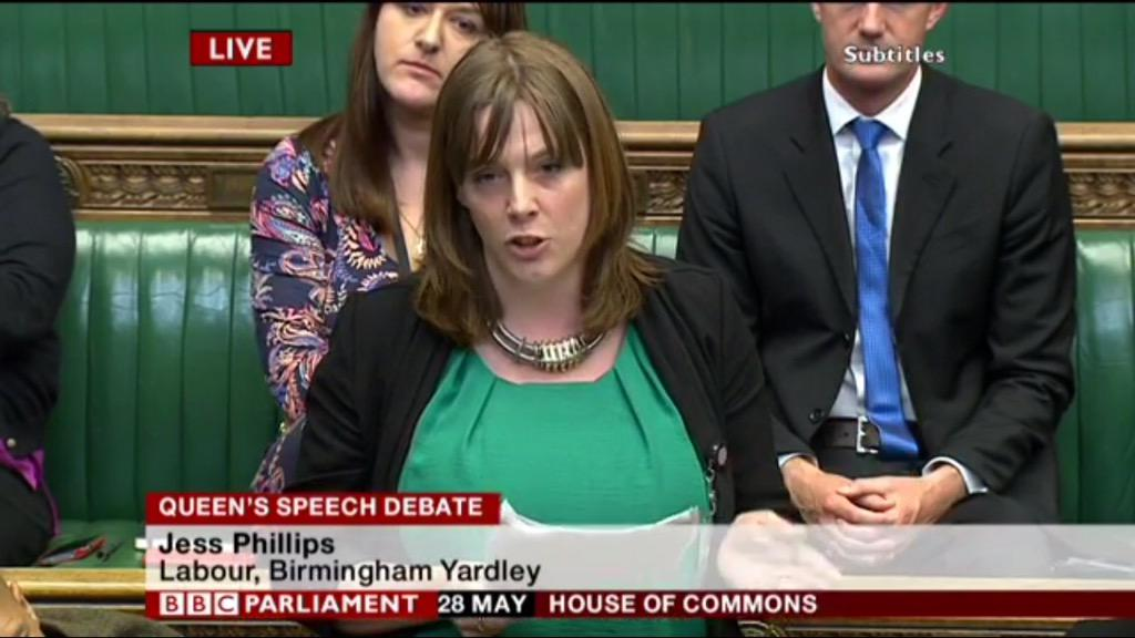 Fine maiden speech by @jessphillips speaking up for #Yardley and the abused. http://t.co/sNHga20KoG