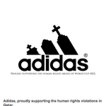 These fake world cup sponsor logos highlight human rights abuses in Qatar http://t.co/AbryQ77kQy http://t.co/y0zSBArFV2