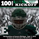Let the countdown begin! #100Days until @EMUFB kicks off the 2015 season at #TheFactory http://t.co/JIefC7IZqc http://t.co/PV1lKogMIG