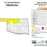 The latest U.S. Drought Monitor shows 77.31% of Oklahoma as drought free compared to just 5.78% this time last year. http://t.co/Qf7LV5C6qc