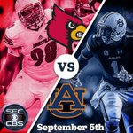 The SEC on CBS season starts with the Chick-fil-A Kickoff Game on September 5th when Louisville takes on Auburn! http://t.co/TVp8l4jWVr