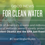 A huge step forward in making sure our drinking water is clean. #CleanWaterRules