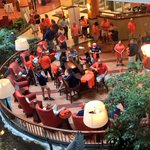 #Auburn Family gathering in hotel lobby. Tiger Walk scheduled for 10:30 CT outside hotel. #WarEagle http://t.co/pFoS8x0qyG