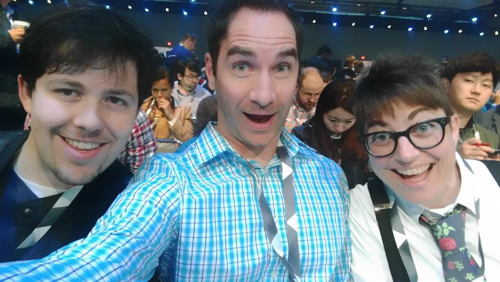 Your @Gizmodo liveblog crew is ready to go at #io15. Let's do this nonsense! #GoogleIO2015 http://t.co/3OkiD9vHES