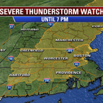 SEVERE THUNDERSTORM #WATCH issued for #Boston and areas in yellow until 7PM. #Fox25 http://t.co/H5W2ZeP62c