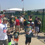 #Packers fans getting ready for today's first open OTA practice. http://t.co/76qVqBhK08