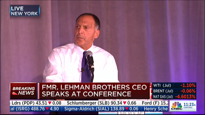 Live now on @cnbc: former lehman brothers ceo dick fuld speaks at ...