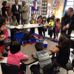 The stars of the show have arrived. Were at Anita Uphaus Early Childhood Center for @GovAbbott #HB4 signing #txlege http://t.co/4HBxvxf9b6