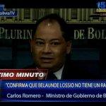 [EN VIVO] Ministro de Gobierno confirma que #BelaundeLossio no se encuentra herido ni cuenta con ningún rasguño. http://t.co/U6vjFVlAW1